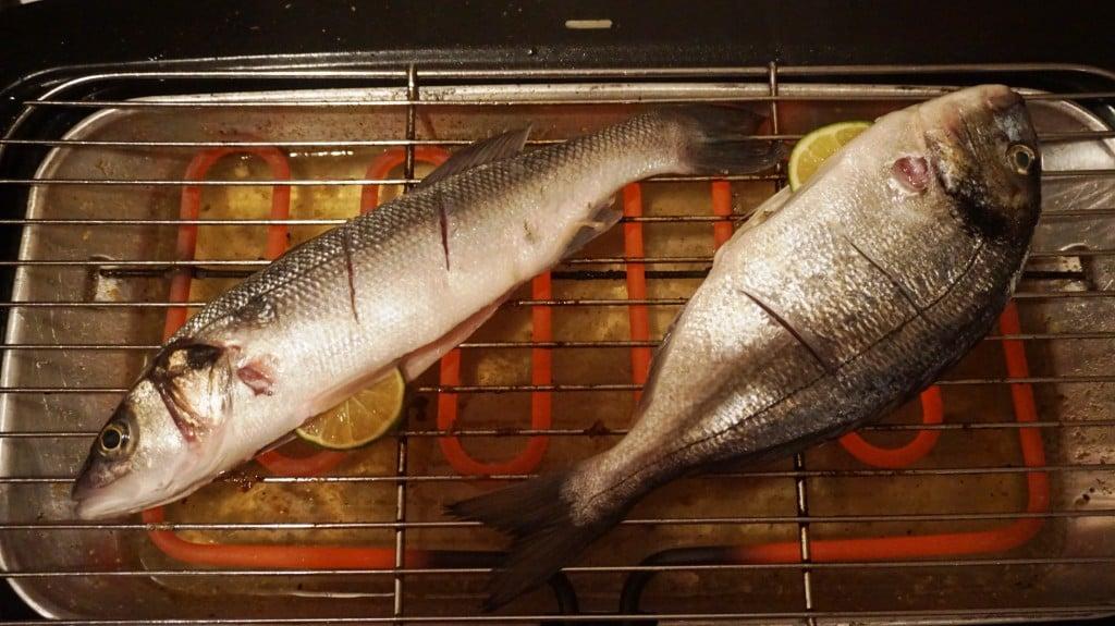 Orada, ryby juz na grillu