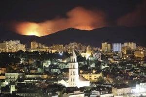 Pożar w Chorwacji 2018