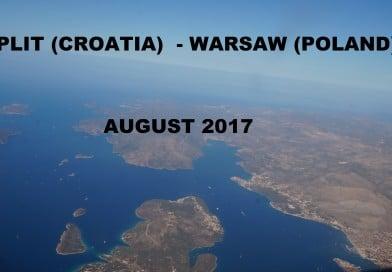 Lot ze Splitu do Warszawy