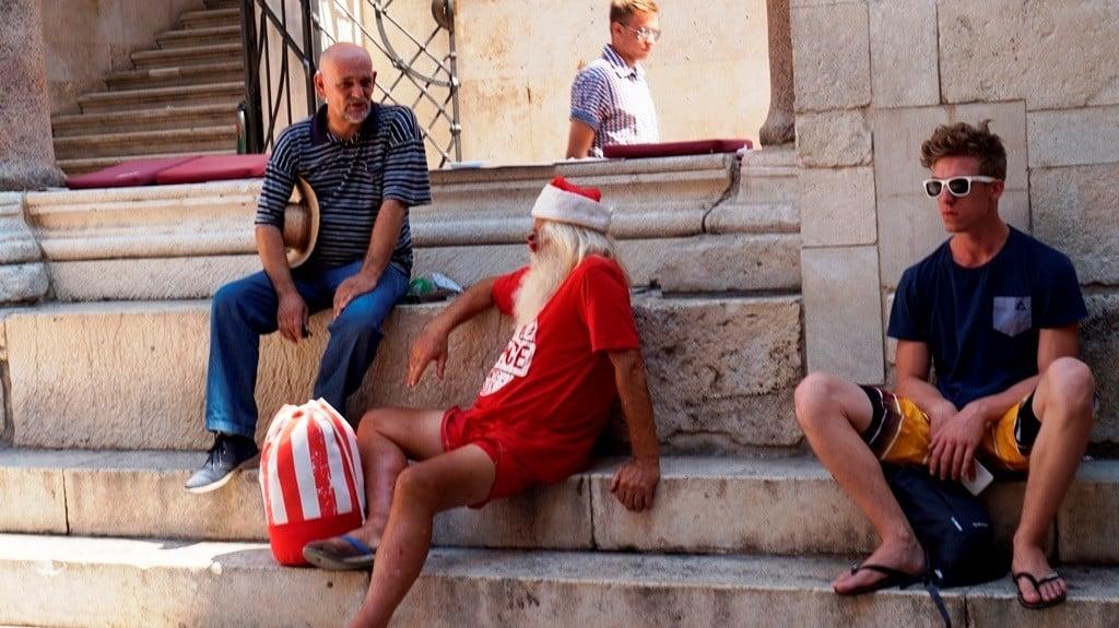 Dalmacja Chorwacja i Mikołaj odpoczywający w Pałacu Dioklecjana
