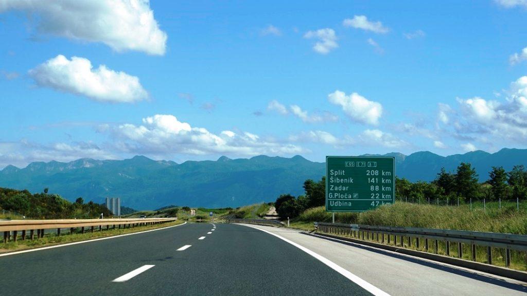 Droga do Chorwacji, autostrada w chorwacji