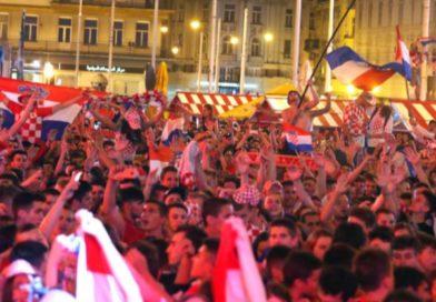 Powitanie drużyny Chorwacji- vice mistrza świata w piłce nożnej 2018