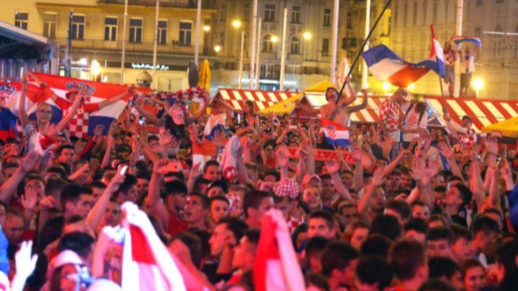 Powitanie drużyny Chorwacji