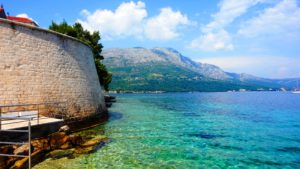 miasto Korčula, Korcula, morze Adriatyckie, Stare Miasto Korcula