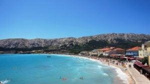 Baska Chorwacja Wyspa Krk plaża