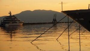 Rijeka port, Rijeka zachód słońca, zachód słońca, Rijeka chorwacja
