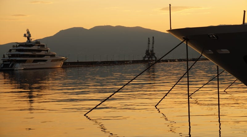 Rijeka port, Rijeka zachód słońca, zachód słońca