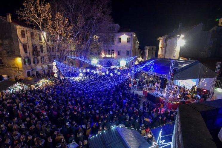 Zadar, Nowy Rok 2019 w Chorwacji,