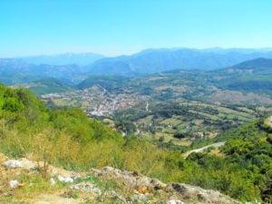 Panorama na góry w Bośni i Hercegowinie