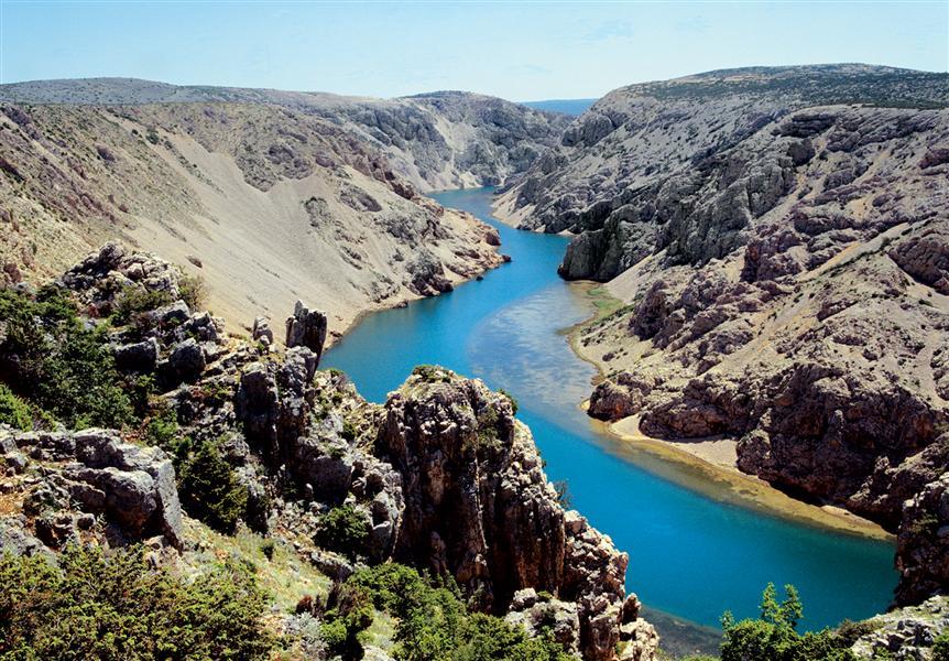 Z Rijeki do Zadaru plan podróży, Kanion rzeki Zrmanja