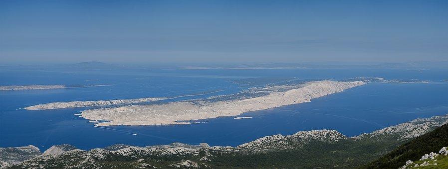 Panorama wyspy Rab