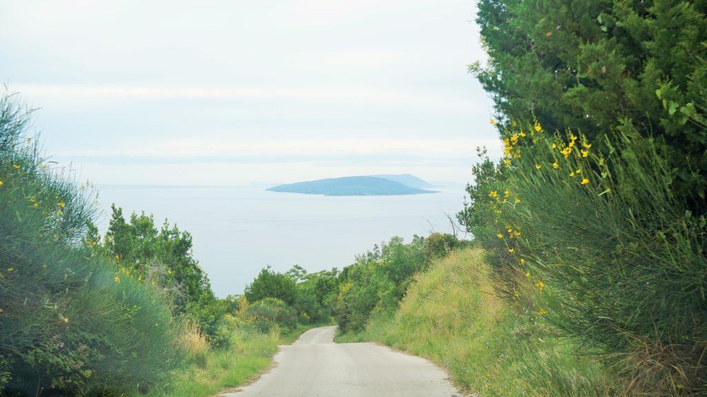 Panorama na wyspę Hvar Droga z Gornji Podaca