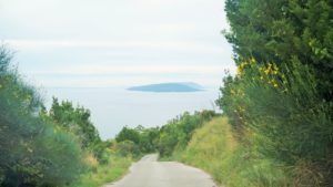 Panorama na wyspę Hvar Droga z Gornji Podacy