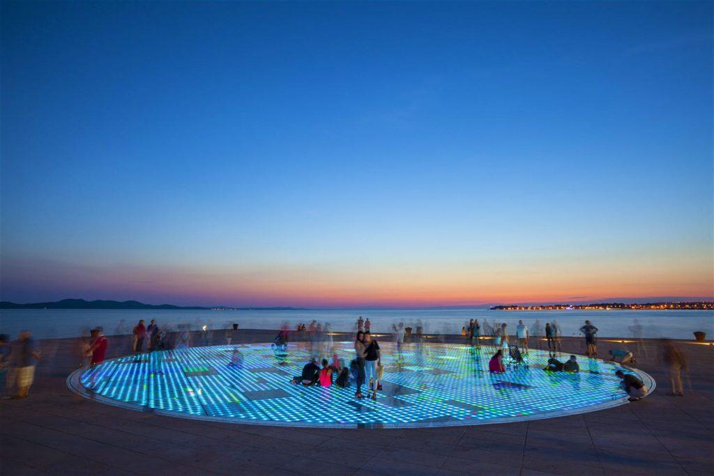 Zadar, Dalmacja, Pozdrowienie Słońca w Zadarze