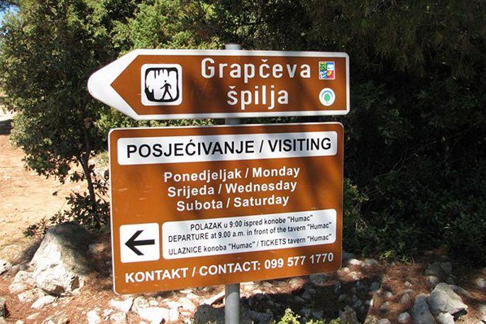 Jaskinia Grapceva spilja na wyspie Hvar