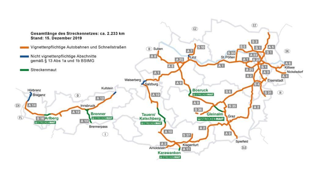 Płatne autostrady Austria