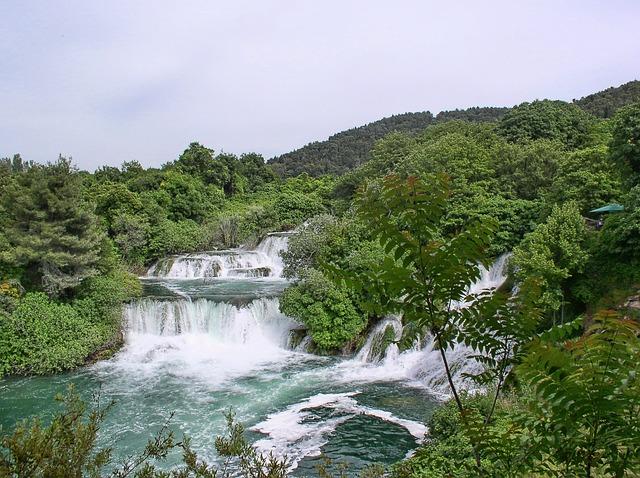 Wodospady na rzece Krka
