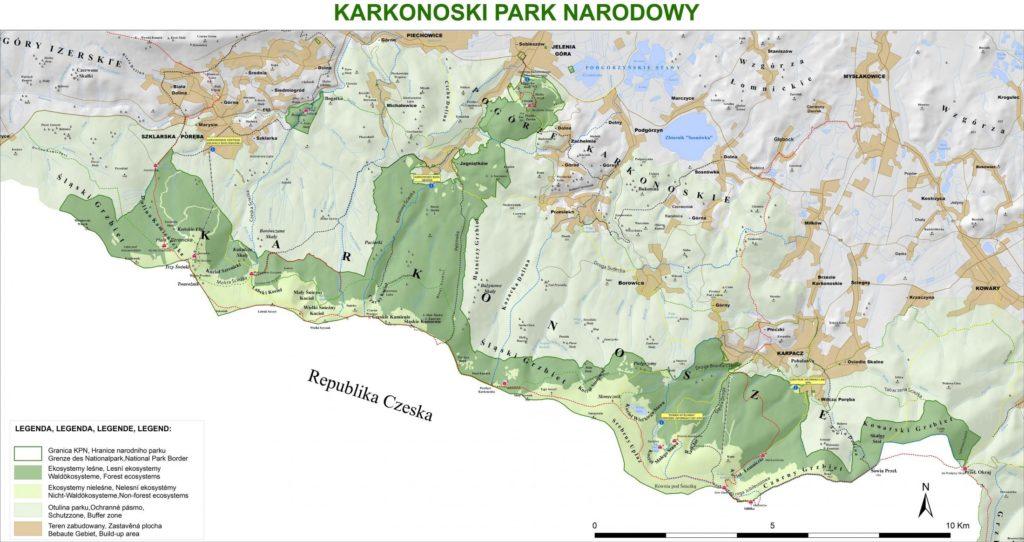 Karkonosze mapa