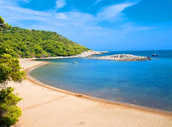 Chorwacja plaże, Saplunara, Mljet