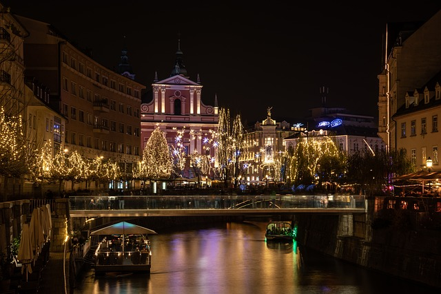 Lublana nocą