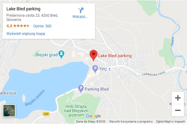 Jezioro Bled Parking
