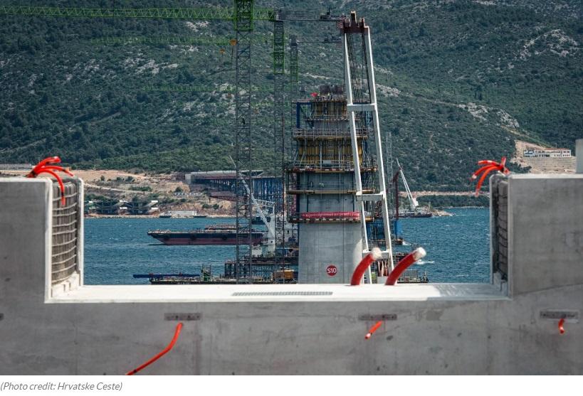 Postępy z budowy Most Pelješac
