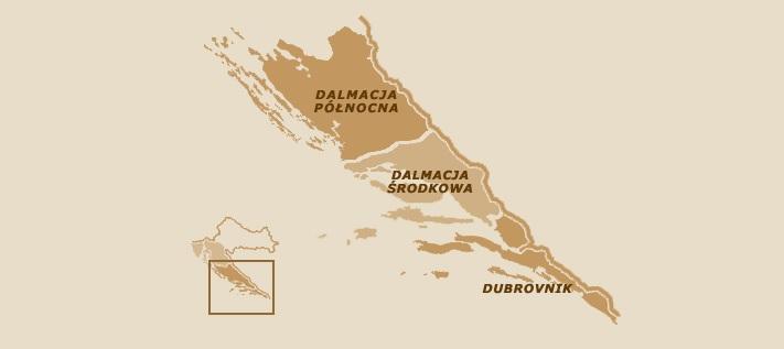 Dalmacja mapa