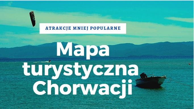 Mapa turystyczna Chorwacji
