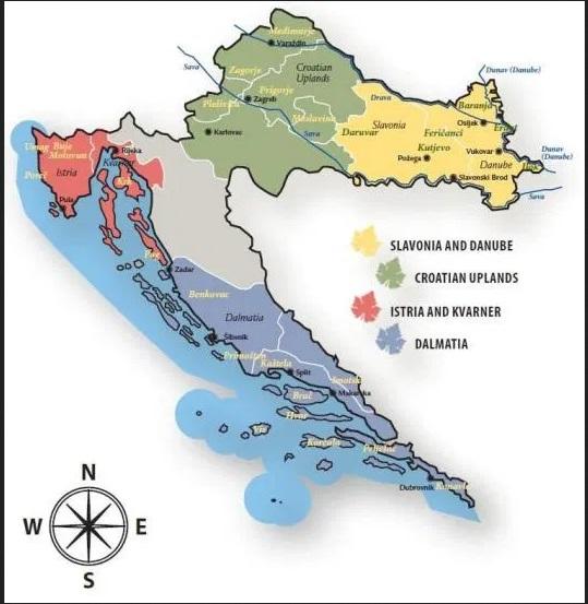 Slawonia i Baranja mapa