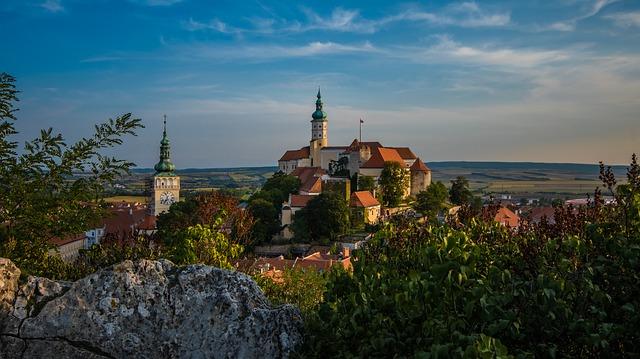 Zamek w Mikulovie na Morawach
