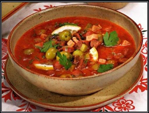 Solianka, solanka, rozyjska zupa, zupa na kaca